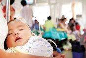 上呼吸道感染:头痛不适,鼻脓涕,伴发热