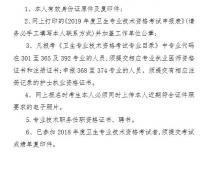 安徽亳州2019年主治医师考试报名现场确认时间地点