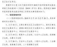 阜阳市颍州区2019年医师资格考试报名审核工作安排